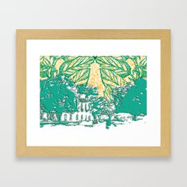 Céu do avesso Framed Art Print