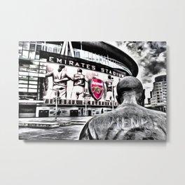 Thierry Henry Statue Emirates Stadium Art Metal Print