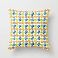 safari Throw Pillows featuring Safari by Apple Kaur