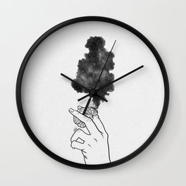 Burning mind. Wall Clock