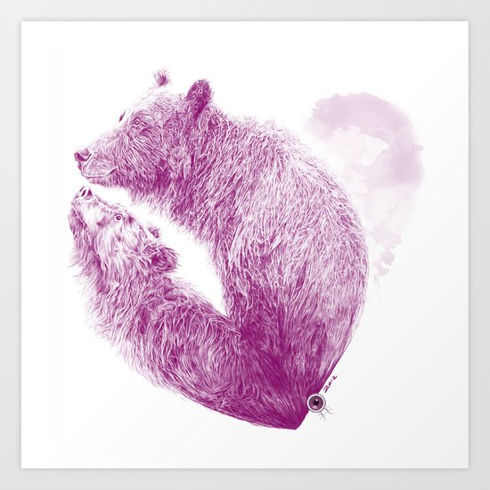 Bear your Heart Art Print