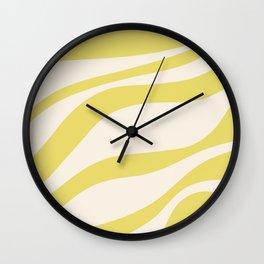 Cute Yellow Cream Zebra Stripes ! Wall Clock