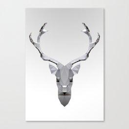 Geo Metal Deeer 01w Canvas Print