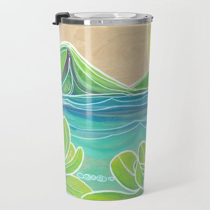 Naupakas in Paradise Surf Art by Lauren Tannehill Travel Mug