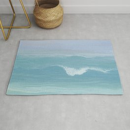 Seashore Small Wave Breaking Rug