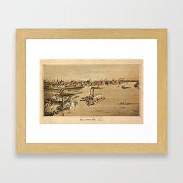 La Crosse Wisconsin 1873 Framed Art Print
