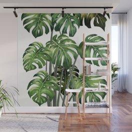 Tropical Monstera  Wall Mural