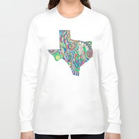 texas Long Sleeve T-shirts featuring Texas by Laura Maxwell