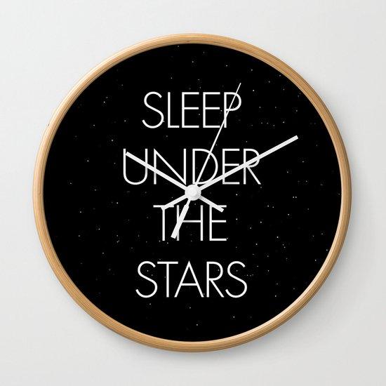 Sleep Under The Stars Wall Clock