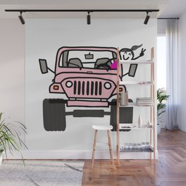 Jeep Wave Pink - Girl Wall Mural