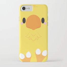 Yellow Chocobo Block iPhone Case