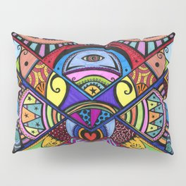 The war between the head and the heart Pillow Sham