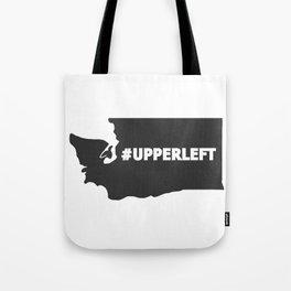 #Upperleft Gray Tote Bag