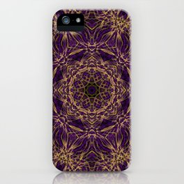 Purple Mandala Hippie Pattern iPhone Case