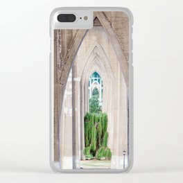 Cathedral Park Portland Clear iPhone Case