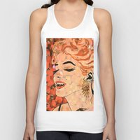 marilyn Tank Tops featuring Marilyn  by Saundra Myles