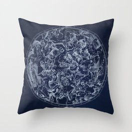 Vintage Constellations & Astrological Signs | White Throw Pillow