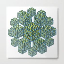 Cubed Mazes Metal Print