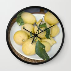 when life hands you lemons::cinque terre, italy Wall Clock