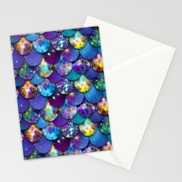 Galaxy scales Stationery Cards