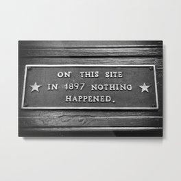 Signs: 1897 Metal Print