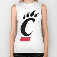 cincinnati Biker Tanks featuring NCAA - Cincinnati Bearcats by Katieb1013