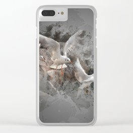 Seagulls flying Clear iPhone Case