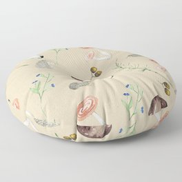 Cute fall woodland animals & foliage Floor Pillow