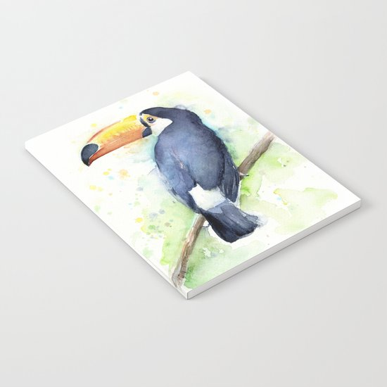 Toucan Tropical Bird Watercolor Notebook