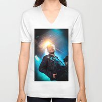 gorillaz V-neck T-shirts featuring Damon Albarn (Blur) - II by Tomás Correa Arce (RockMe TommyBoy)
