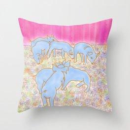 Little Pigs Throw Pillow