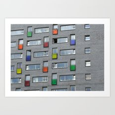 Coloured doors Art Print