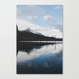 Snow-capped Reflections Canvas Print