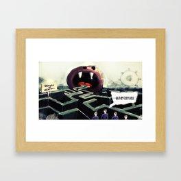 Beware of meatball Framed Art Print