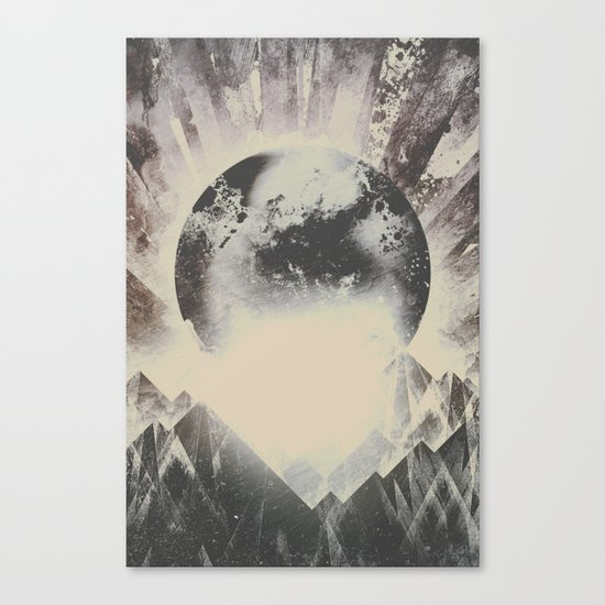 New day new mountains to climb Canvas Print