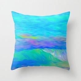 Caribbean Sea Art Throw Pillow