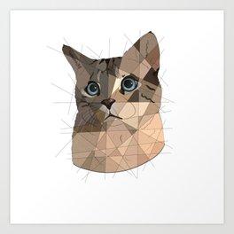 Cat Shapes Art Print
