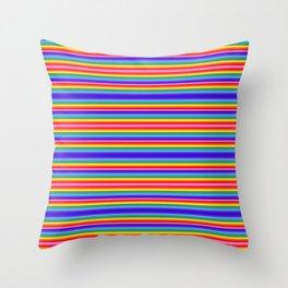 Tiny stripes of rainbow colors Throw Pillow