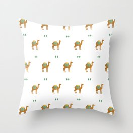 Camels all around Throw Pillow