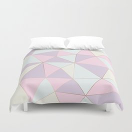 Pastel colors modern geometric triangles pattern Duvet Cover