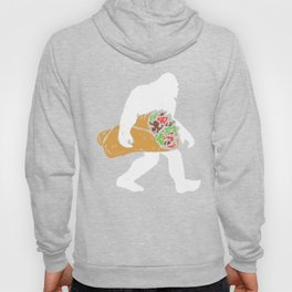 Funny Bigfoot Carrying Taco Lover Mexican Gift Hoody