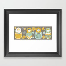 Autumnish mamushkas Framed Art Print