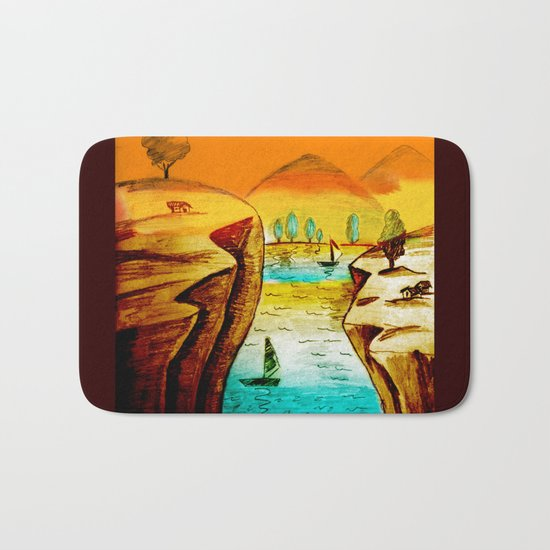 Landscape Art Bath Mat