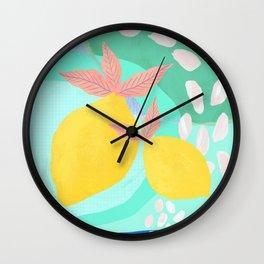 Pink Lemonade - Shapes and Layers no.32 Wall Clock