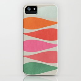 Vintage minimal improvisation iPhone Case