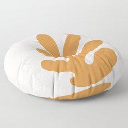matisse orange leaf cutoff- modern art Floor Pillow