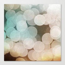 Aqua and Creamy BOKEH Pattern Canvas Print