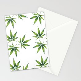 Marijuana Leaves Stationery Cards