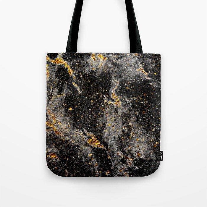 Galaxy (black gold) Tote Bag