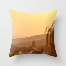 SUNSET OVER EASTERN OREGON Throw Pillow